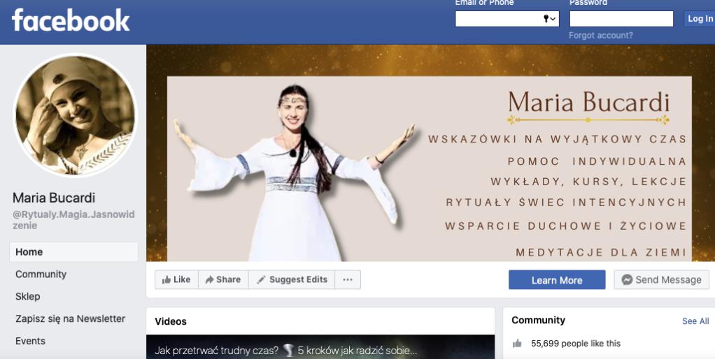 Facebook Maria Bucardi