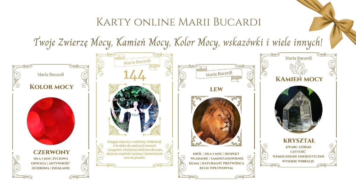 karty mocy, tarot, wyrocznia, online, karty anielskie, przepowiednie, przyszłość, Maria Bucardi