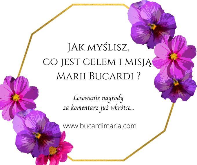 losowanie nagrody za komentarz, Maria Bucardi-2